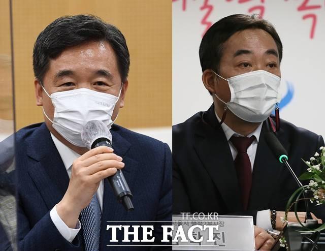서정협 행정1부시장(왼쪽)과 김학진 행정2부시장이 사의를 표명했다. /더팩트 DB