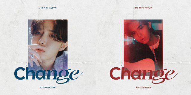 김재환의 미니 3집 'Change'는 지금까지 변화해온 모습을 의미하는 'ed' 버전(왼쪽)과 앞으로 변화할 모습을 의미하는 'ing' 버전(오른쪽)으로 나눠 '변화'에 대한 김재환의 생각을 담았다. /스윙엔터테인먼트 제공