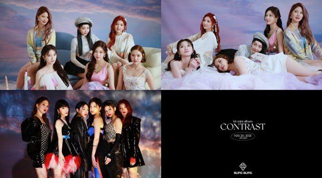 걸그룹 블링블링(Bling Bling)이 오는 20일 첫 미니 앨범 'CONTRAST(콘트라스트)' 발표를 앞두고 스포일러 필름을 공개했다. /메이저나인 제공