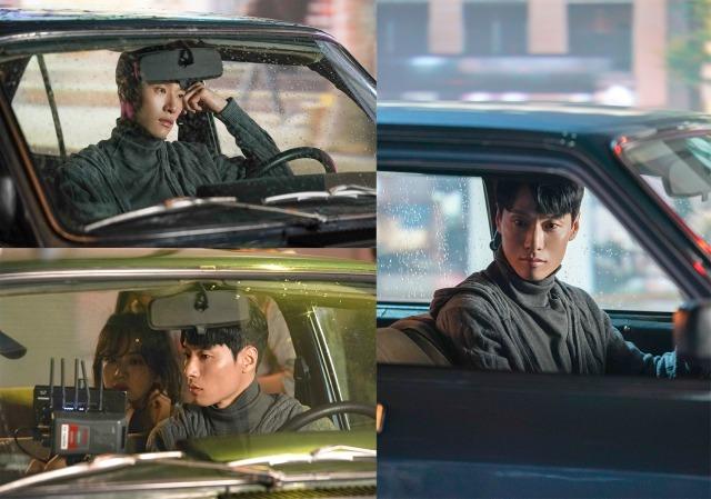 배우 김동원의 모습이 담긴 '모처럼' 뮤직비디오 촬영 비하인드가 공개됐다. 김동원은 이를 통해 출연 소감을 밝히기도 했다. /아이오케이컴퍼니 제공