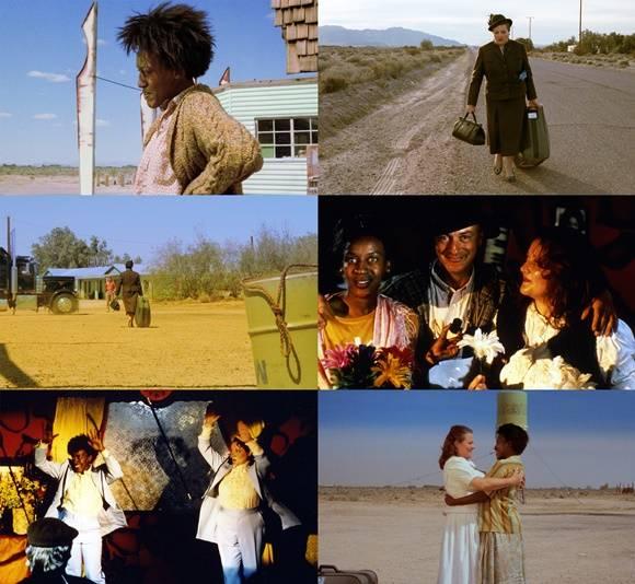리마스터링으로 재개봉한 영화 '바그다드 카페'는 인생의 끝에 선 두 사람, 야스민(마리안 제게브레히트 분)과 브렌다(C.C.H. 파운더 분)가 바그다드 카페에서 만나 서로의 상처를 치유하고 삶에 대한 희망을 찾아가는 이야기다. /영화 스틸컷