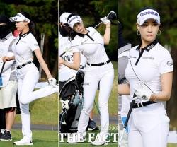 유현주, 올 화이트 패션으로 시선 집중 [TF사진관]