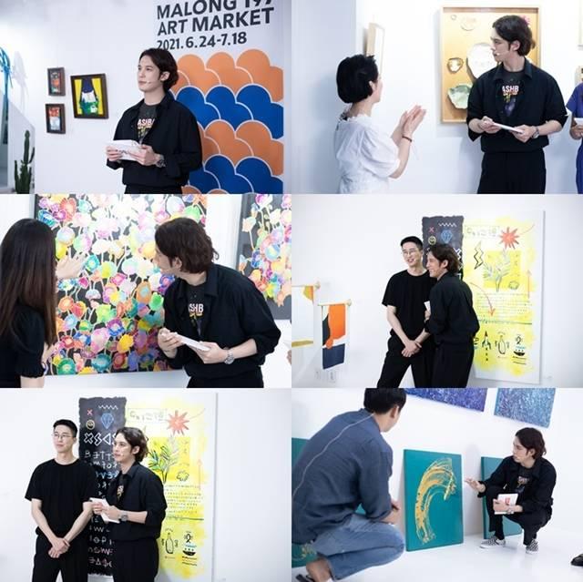 배우 겸 화가 박기웅이 지난 14일 '박기웅의 컬쳐 라이브'에서 '마롱 197 아트마켓'을 소개했다. /마운틴무브먼트 제공