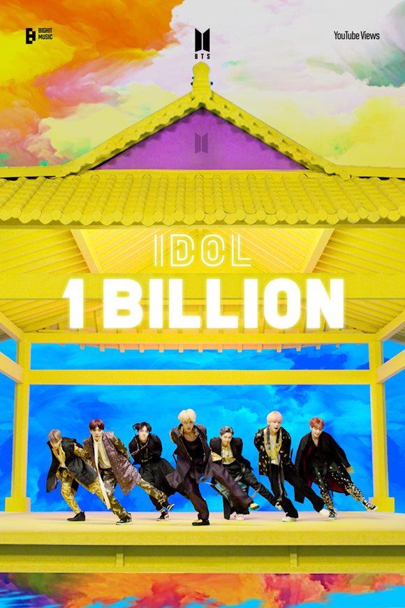 그룹 방탄소년단의 'IDOL' 뮤직비디오 유튜브 조회수가 10억 뷰를 돌파했다. /빅히트 뮤직 제공