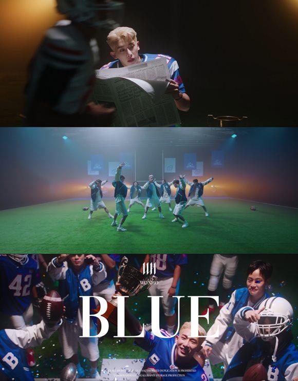 가수 원호(WONHO)가 새 앨범 타이틀곡 '블루(BLUE)'의 뮤직비디오 두 번째 티저를 공개했다. /하이라인엔터테인먼트 제공
