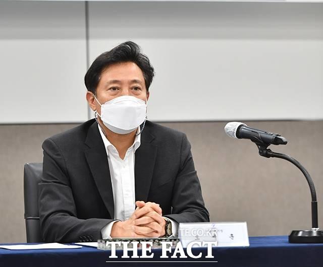 오세훈 서울시장이 지난 10년 동안 서울시가 특정 시민단체의 ATM기로 전락했다고 비판했다. /운융 기자