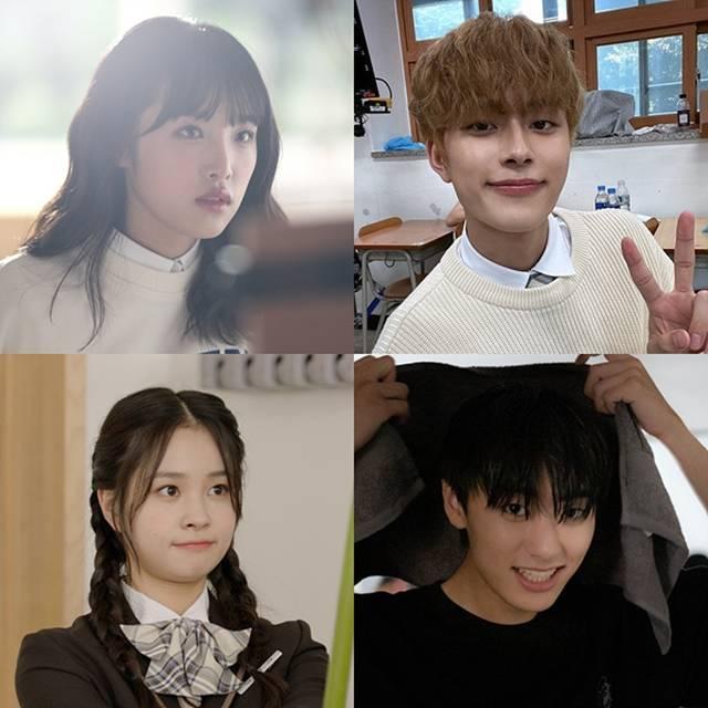 최예나 유선호 이원정 지한(왼쪽 위부터 시계방향)이 tvN D STUDIO 오리지널 웹드라마 '소녀의 세계2'에 출연한다. /'소녀의 세계2' 제공