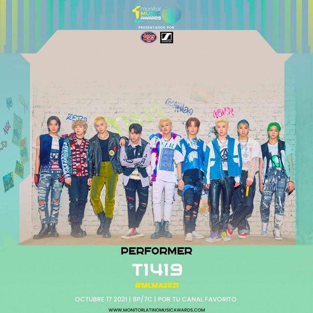 보이그룹 T1419가 남미 시상식 'Monitor Music Awards 2021'에 초청돼 축하 무대를 펼친다. /monitorLATINO 공식 SNS